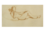 Study for the Olympia: a Woman Lying, Face Not Drawn Giclee Print by Edouard Manet