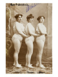 The 4 Athletes. Athlete, Louise, Anna, Weight Lifters Giclee Print