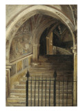 Staircase of the Convent of San Benedetto at Subiaco Giclee Print by Jean Jacques Henner
