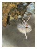 l'Etoile ou Danseuse sur scène Giclée-tryk af Edgar Degas