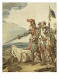 Tenture de l'Histoire d'Henri IV. Henri IV devant Paris assiégé Giclée-Druck von Francois Andre Vincent
