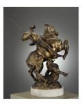 Saint Georges combattant le dragon Giclee Print by Emmanuel Fremiet