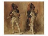 Soldats de la Première République. Etudes Giclee Print by Denis Auguste Marie Raffet
