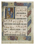 Feuillet d'antiphonaire : Annonciation Gicle-tryk
