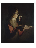 Le Souffleur &#224; la pipe Giclee Print by Georges de La Tour