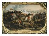La Bataille des Pyramides, 21 juillet 1798 Giclée-Druck von Francois Andre Vincent