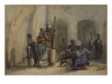 Signare et serviteurs &#224; Gor&#233;e Giclee Print by Edouard Auguste Nousveaux