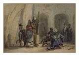 Signare et serviteurs à Gorée Giclee Print by Edouard Auguste Nousveaux