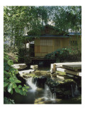 Tea Pavilion, the Museum's Garden Buddhist Pantheon Giclée-Druck