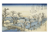 Coucher du soleil sur Koganei Giclee Print by Ando Hiroshige