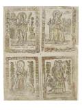 St. Barbara, St. Rayne, St. Catherine, St. Margaret Giclee Print