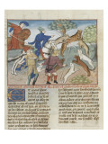 The Book of Gaston Phoebus Hunting: Hunting Wild Cats Giclee Print
