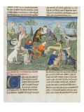 The Book of Gaston Phoebus Hunting in Care for Dogs Lámina giclée