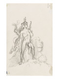 "Study of Hercules ""Hercules and the Hydra of Lerna"" Giclee Print by Gustave Moreau"