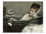 The Bath, also Said the Woman in the Bath or Shower Reproduction proc&#233;d&#233; gicl&#233;e par Alfred Stevens