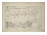 Study Perspective for the &quot;Coronation of Napoleon I.&quot; Giclee Print by Jacques-Louis David