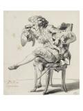 Etude de costume de théâtre : un homme assis avec des jumelles Giclée-Druck von Francois Andre Vincent