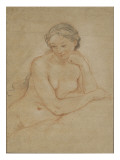 Etude de femme nue Reproduction proc&#233;d&#233; gicl&#233;e par Charles Joseph Natoire