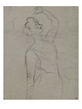 Study for Yvette Guilbert (1867-1944), the Left Arm Lámina giclée por Henri de Toulouse-Lautrec