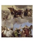 Saint Marc couronnant les vertus Théologales Giclée-Druck von Paolo Véronèse