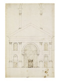 Esquisse de la façade Saint-André à Mantoue Reproduction procédé giclée par Herman Vischer