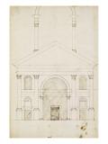 Esquisse de la façade Saint-André à Mantoue Giclée-Druck von Herman Vischer