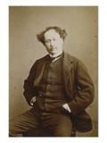 Alexandre Dumas fils (1824-1895), &#233;crivain et dramaturge fran&#231;ais Reproduction proc&#233;d&#233; gicl&#233;e par Gaspard F&#233;lix Tournachon