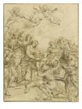 L'Adoration des bergers Giclée-tryk af Alessandro Algardi