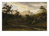 Soleil couchant à Ben Lomond (Tasmanie) Giclee Print by John Glover