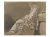 "Seated, Drapery Study (Plato for ""Death of Socrates"") Giclee Print by Jacques-Louis David"