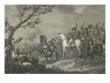 The Battle of Jena or Death of the Duke of Brunswick Giclée-Druck von Antoine Charles Horace Vernet
