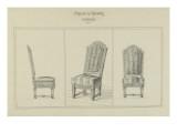 Mod de chaises de salle anger Reproduction procédé giclée par Antoine Zoegger