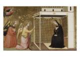 L'Annonciation (élément de prédelle) Giclée-tryk af Bernardo Daddi