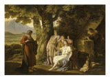 L'Apparition des anges à Abraham Lámina giclée por Louis Gauffier