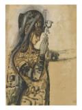 Etude pour Salomé Giclée-tryk af Gustave Moreau