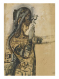 Etude pour Salomé Gicléetryck av Gustave Moreau