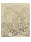 Study for Puget&#39;s Milo of Croton with King Louis Xiv Giclee Print by Paul Delaroche
