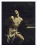Saint Sébastien martyr dans un paysage Giclée-Druck von Guido Reni