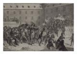 La bataille de boules de neige au collège de Brienne Giclee Print by Denis Auguste Marie Raffet