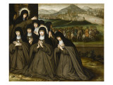 St. Clair with Her Sister Agnes and Several Religious Giclee Print