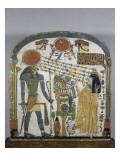 Stèle de la dame Taperet adorant le dieu Rê-Horakhty Lámina giclée