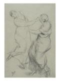 Etude de femmes dans un mouvement de pas de danse Giclee Print by Alfred Roll