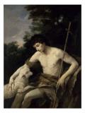 Saint Jean-Baptiste Gicléedruk van Guido Reni