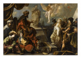 Sainte Catherine refuse de sacrifier aux idoles Giclée-Druck von Claude Vignon