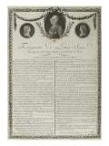 Testament de Louis XVI Giclee Print