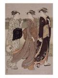 Crépuscule d'été au bord de la Sumida Giclee Print by Torii Kiyonaga