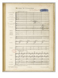 Spring Rounds: &quot;Images&quot; for Orchestra No. 3: Page 1 Giclee Print by Achille-Claude Debussy