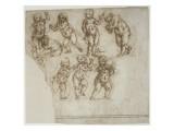 Etudes d'enfants jouant, vus en frise Giclée-Druck von Andrea del Verrocchio