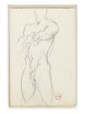 Carnet de dessins : étude d'homme nu Giclee Print by Gustave Moreau