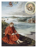 Saint Jean à Patmos Giclée-Druck von Joos Van Cleve